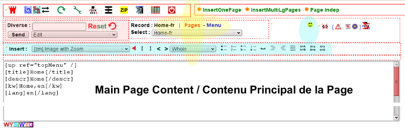 Main Ataox editor in Page mode